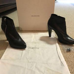 Black Balenciaga Booties